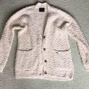 NWOT Abercrombie fuzzy cardigan sweater